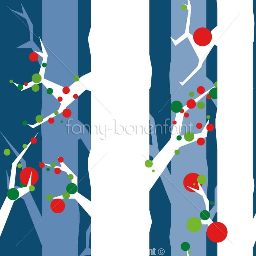 motif Xmas tree par Fanny Bonenfant designer textile