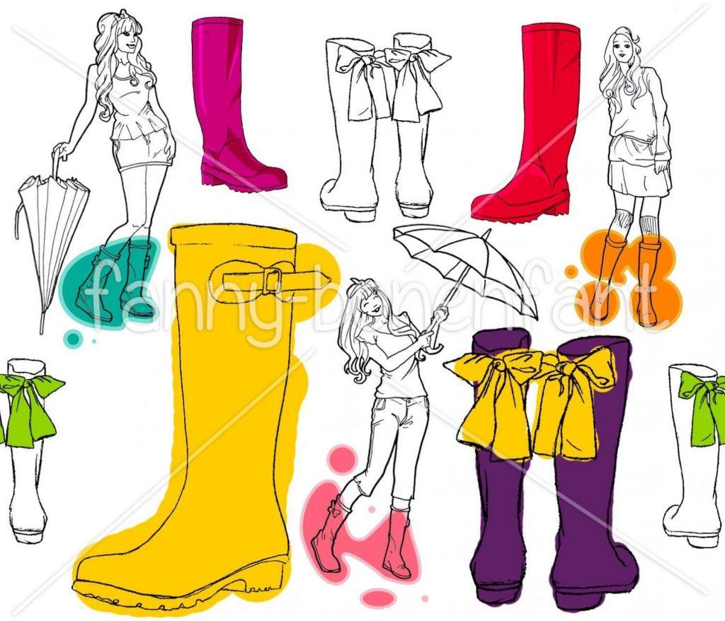 Happy Rainboots par Fanny Bonenfant designer textile