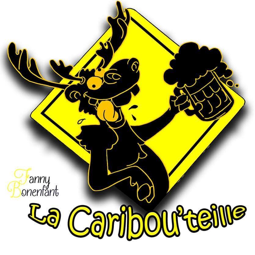 graphisme La Caribou'teille de la brasserie le Gambrinus par Fanny Bonenfant