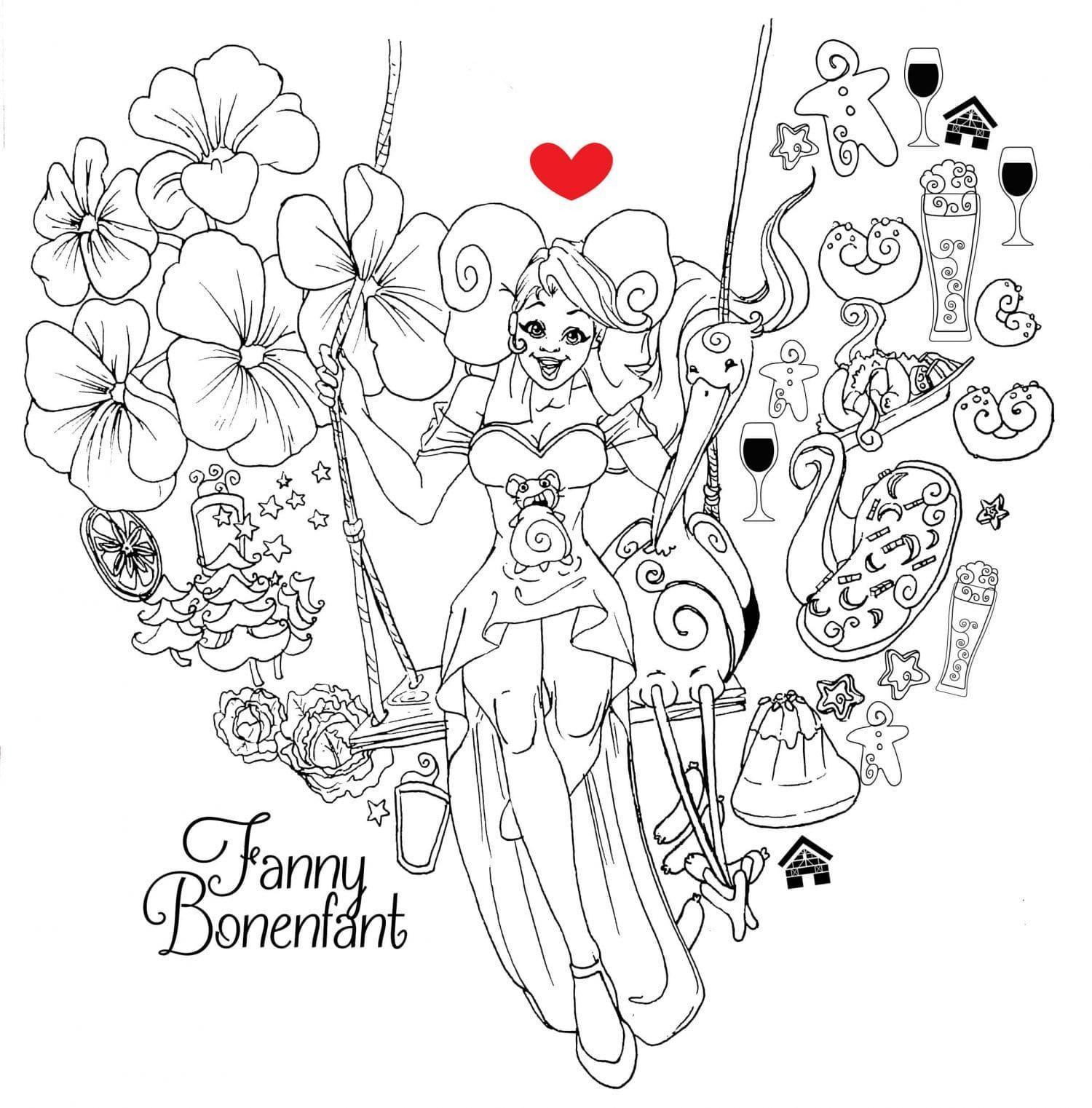 coloriage univers alsacien Fanny Bonenfant Alsace