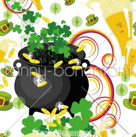 motif Saint Patrick luck par Fanny Bonenfant designer textile illustratrice