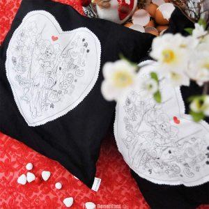 Coussin 100% coton design et original alsace illustration par Fanny Bonenfant