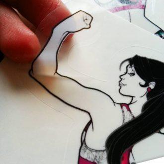 Sticker transparent – Sportive et fière de l'être