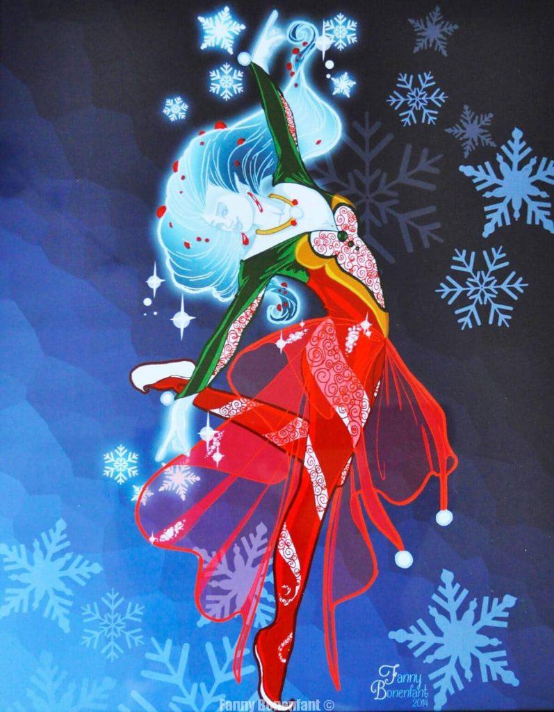 Poinsettia fée du givre Noël 2014 001 Fanny Bonenfant Illustrations