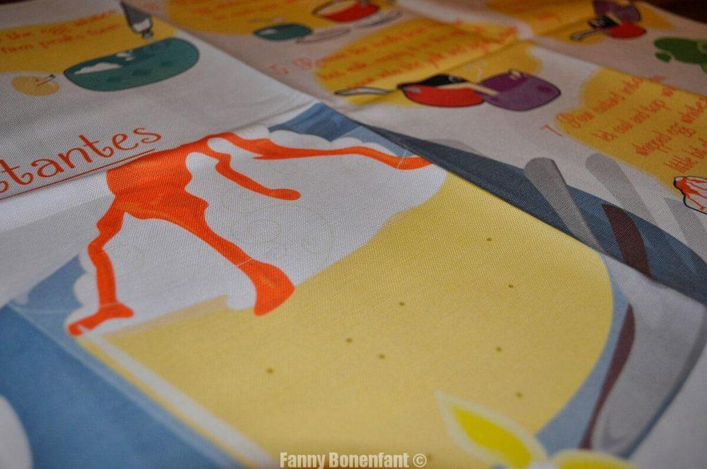 Recette des îles flottantes - illustration textile en Alsace Fanny Bonenfant