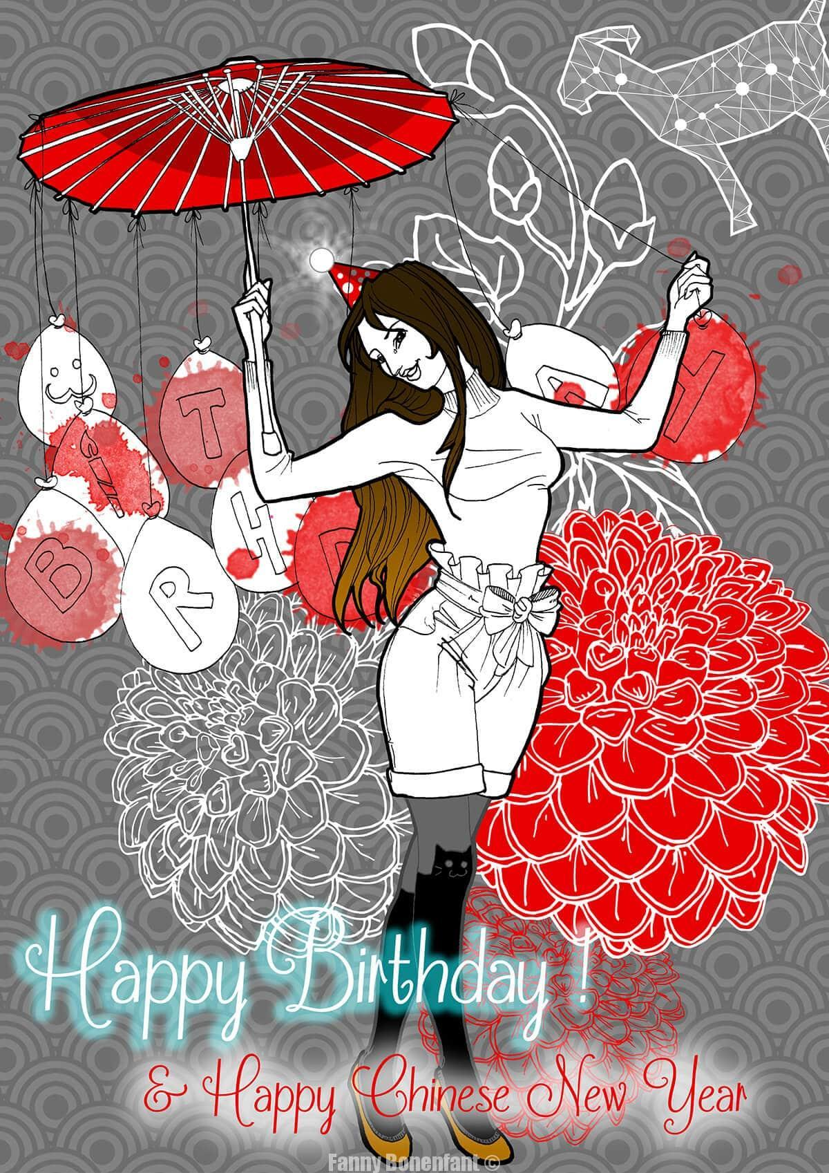 Happy Birthday & Happy Chinese New Year Fanny !