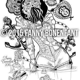 Steampunk pin-up February 2015 – coloriage thérapie et fun