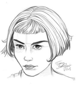 Portraits Quizz Women 1 par Fanny Bonenfant illustration et design Audrey Tautou Amélie Poulain