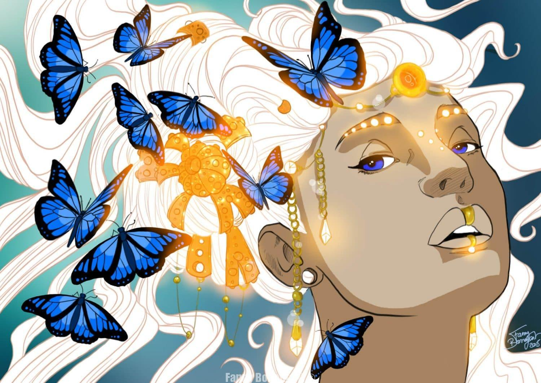 L'Amazone aux papillons