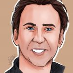 Portraits Quizz Men 1 par Fanny Bonenfant illustration et design Nicolas Cage