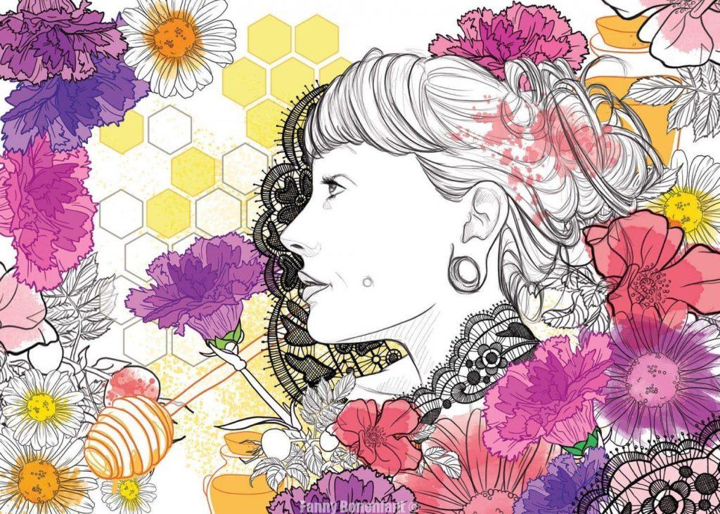 Carole Honey Love illustration Fanny Bonenfant