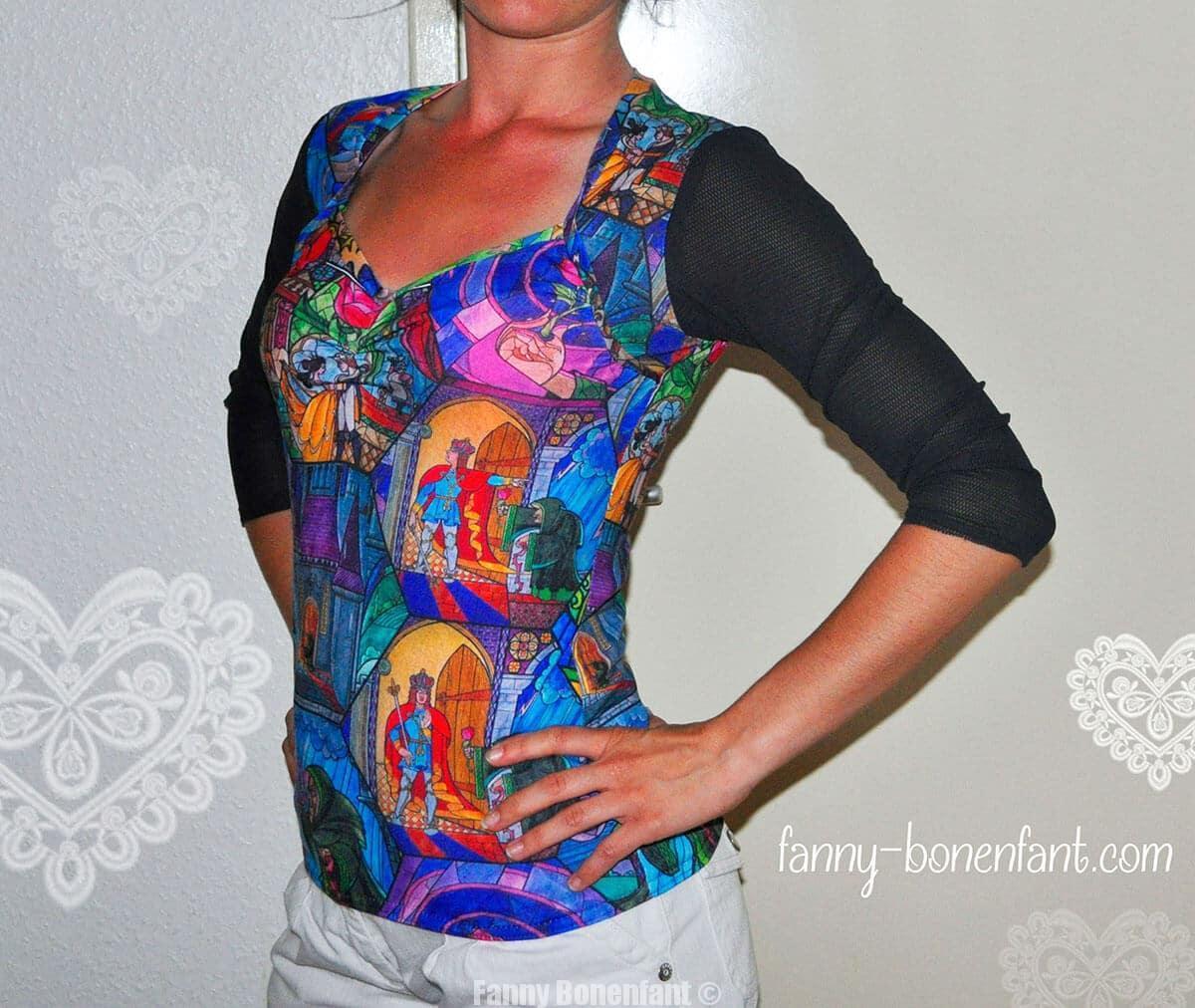 T-shirt Beauty and the Beast par Fanny Bonenfant design textile
