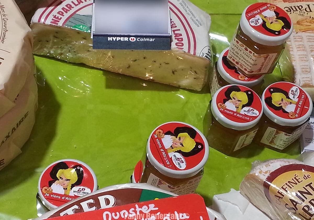 étiquette je viens d'Alsace Affinerie-Siffert-Frech illustration Fanny Bonenfant