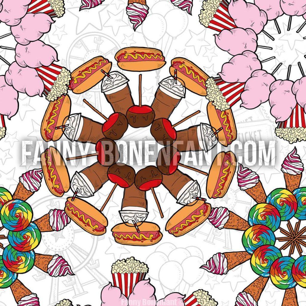 kaleidoscope foraine fanny bonenfant design textile motif