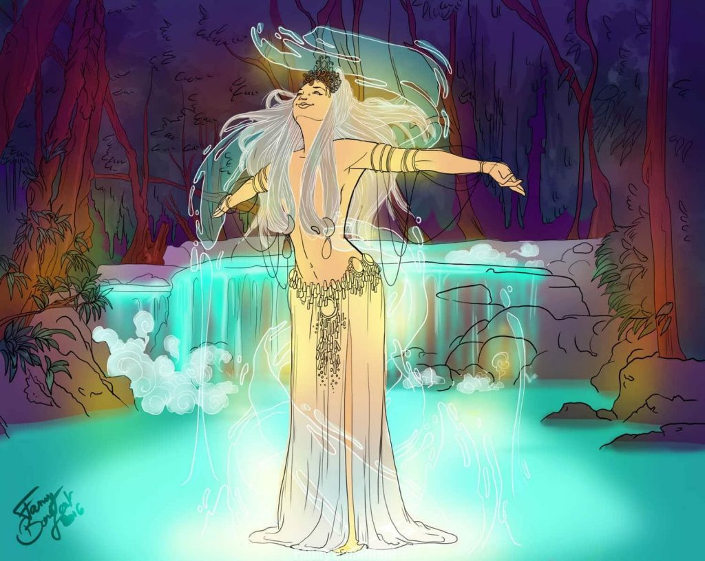 Contre la dépression de janvier - la magie des nymphes aquatique par Fanny Bonenfant Illustrations