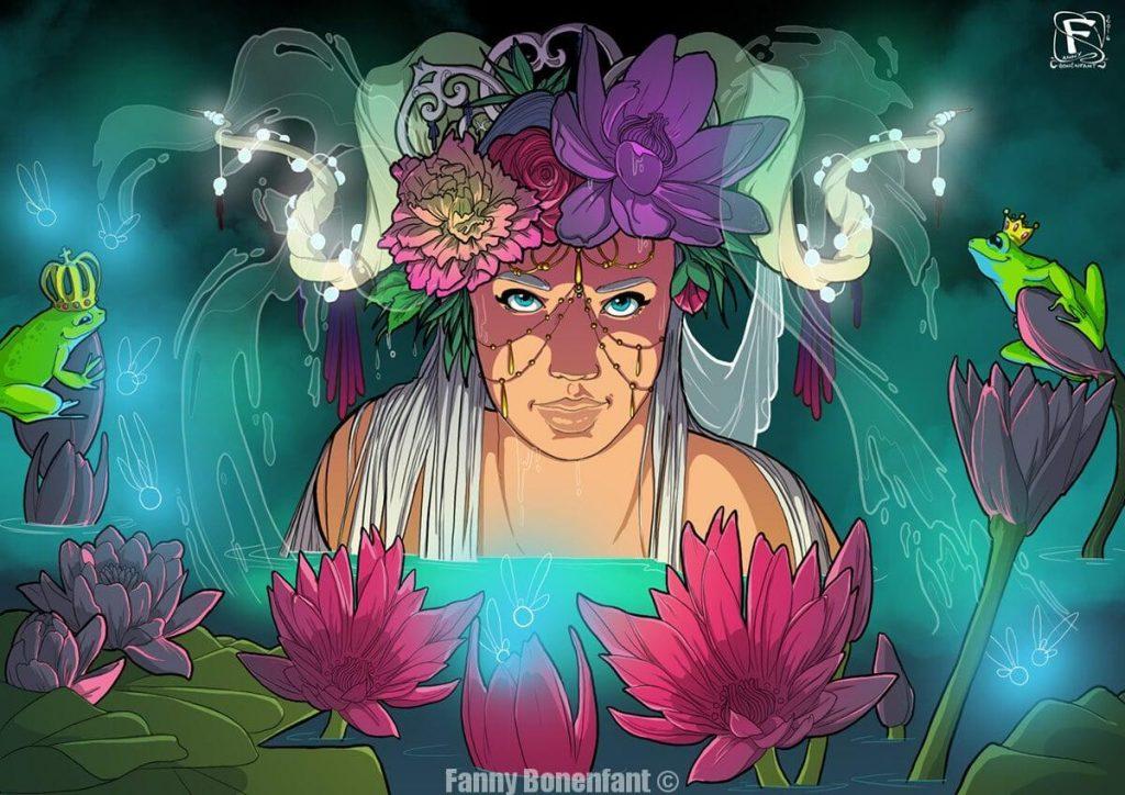 Fairy Lotus illustration magique et mystérieuse Fanny Bonenfant