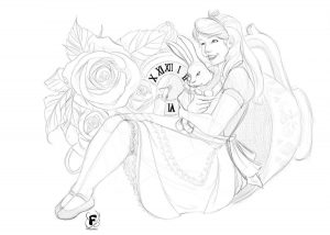 Alice in Wonderland - Esquisse du dessin