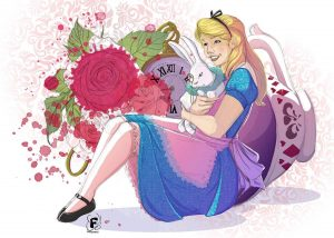 Alice Wonderland fan art by Fanny Bonenfant illustrations