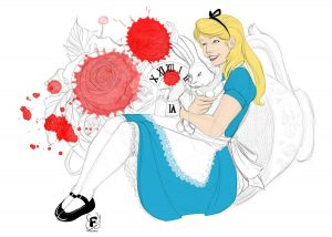 Alice in Wonderland - Test de couleurs en aplat