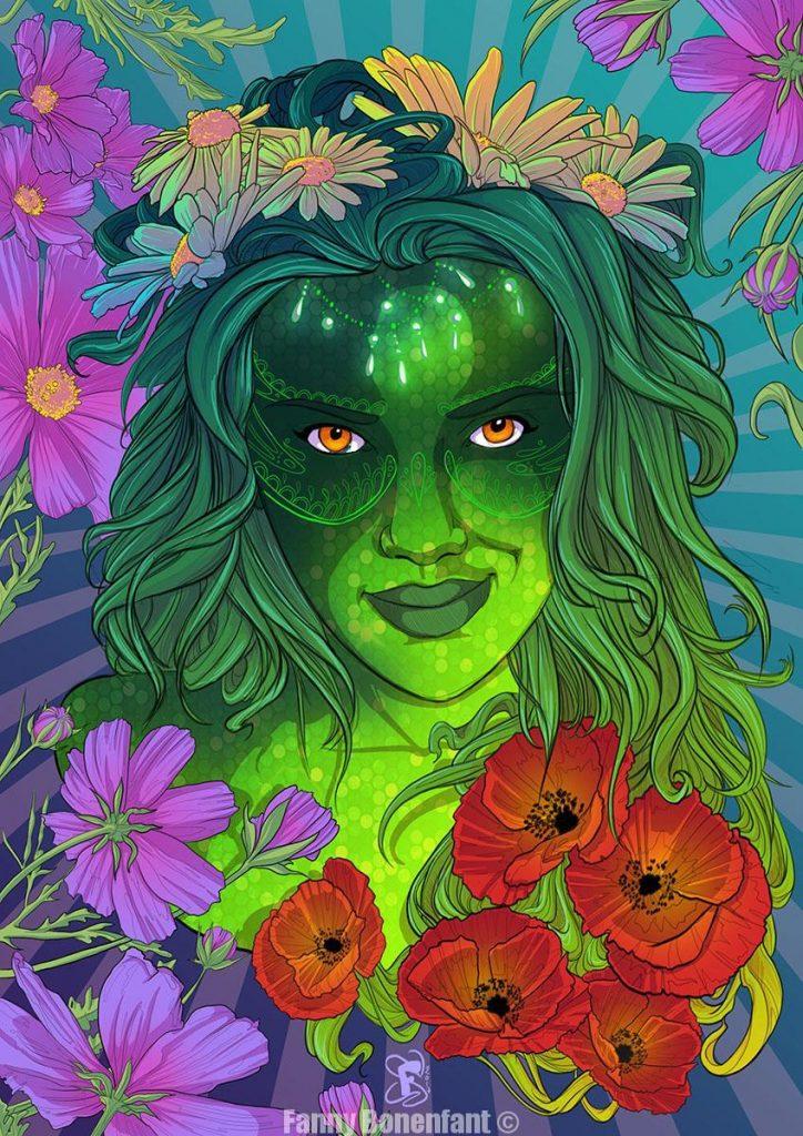 dame nature éveil du printemps illustrée par Fanny Bonenfant