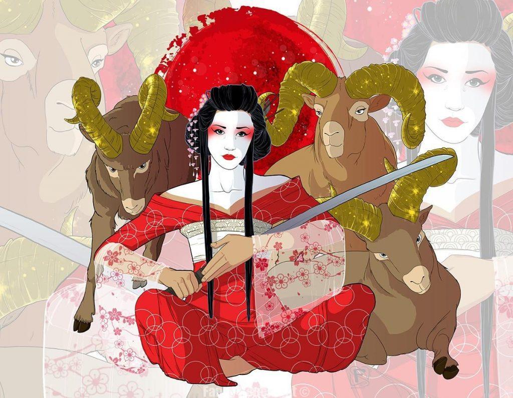 Signe du zodiaque du Bélier - Zodiac sign Aries by Fanny Bonenfant illustrations