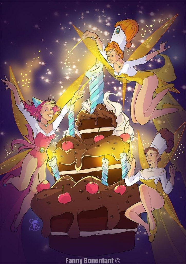 anniversaire féerique - fairy birthday par Fanny Bonenfant
