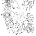 portrait emeline crayonné et tracés