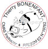 Logo tampon instructeur de plongée