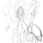 Rough / sketching scène anniversaire alsacien Fanny Bonenfant