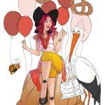 Début de coloration anniversaire alsacien par Fanny Bonenfant