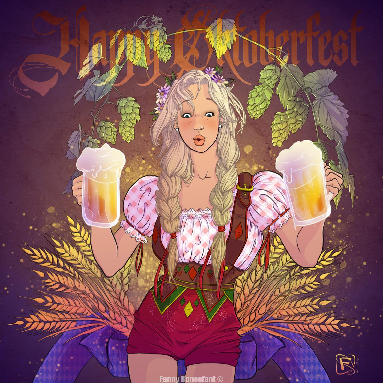 happy Oktoberfest 2017 by Fanny bonenfant illustrations