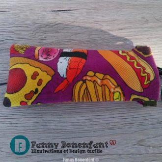Étui «clic-clac» motif pop art snack