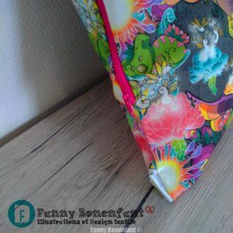 Taie d'oreiller 60 cm design textile