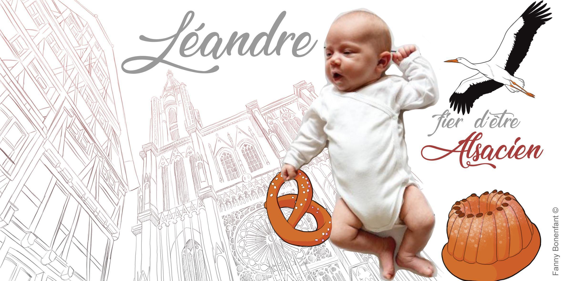 commande carte de naissance thème Alsace dessiné par Fanny Bonenfant