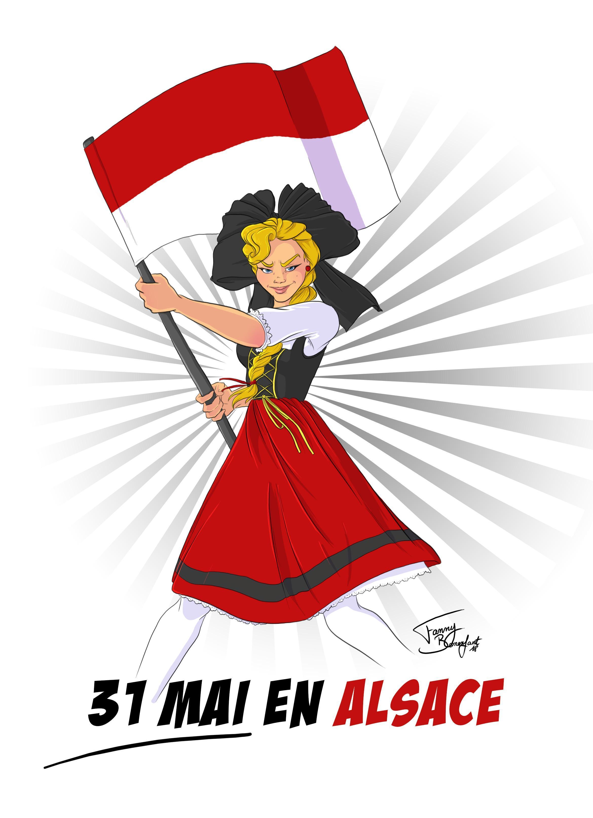 illustration 31 mai alsace rot und weiss illustration 31 mai alsace rot und weiss Heimetfescht