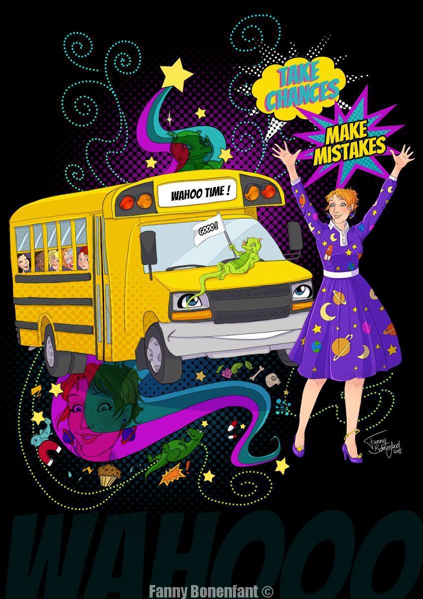 Fan art du Bus Magique (magic school bus) par Fanny Bonenfant