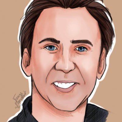 Portraits Quizz Men 1 par Fanny Bonenfant illustration et design Nicolas Cage